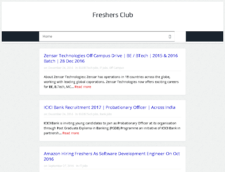 freshersclub.in screenshot