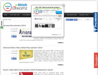 freshersjobs.thishdreamz.com screenshot