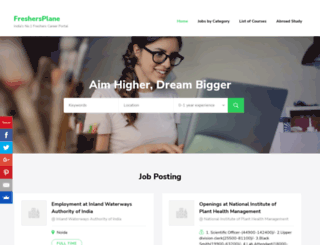 freshersplane.com screenshot