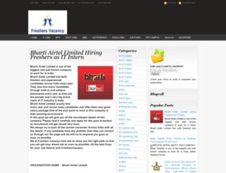 freshersvacancy.com screenshot