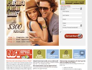 freshestpaydayloans.com screenshot