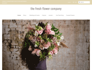 freshflower.co.uk screenshot