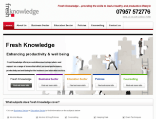 freshknowledge.co.uk screenshot