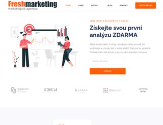 freshmarketing.cz screenshot
