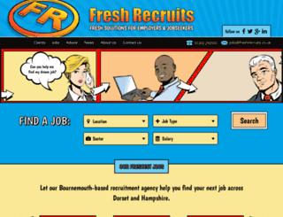 freshrecruits.co.uk screenshot