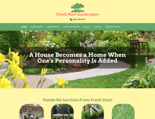 freshstartlandscapes.com screenshot