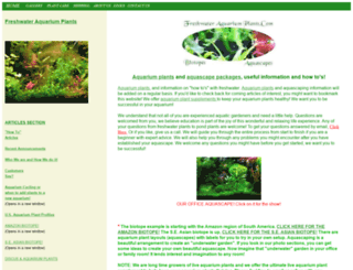 freshwateraquariumplants.com screenshot