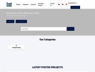 freshwebjobs.com screenshot