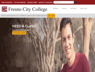 fresnocitycollege.com screenshot