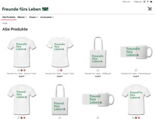 freunde-fuers-leben.spreadshirt.de screenshot