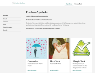 friedens-apotheke.ch screenshot