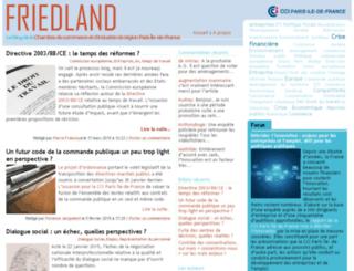 friedland.cci-paris-idf.fr screenshot