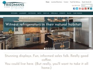 friedmansappliancecenter.com screenshot
