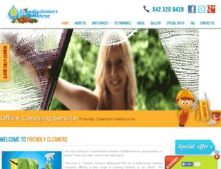 friendlycleanersmelbourne.com.au screenshot