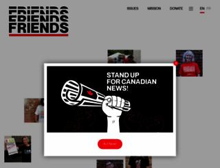 friends.ca screenshot