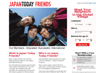 friends.japantoday.com screenshot
