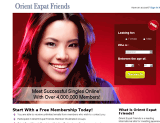 friends.orientexpat.com screenshot