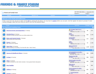 friendsandfamilyforum.com screenshot