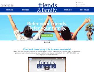 friendsandfamilyrewards.com screenshot