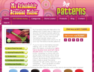 friendship-bracelet-patterns.myfbm.com screenshot
