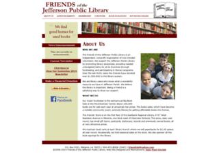 friendsofjeffersonlibrary.org screenshot