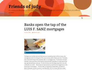 friendsofjudy.org screenshot
