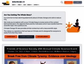 friendsofscience.org screenshot