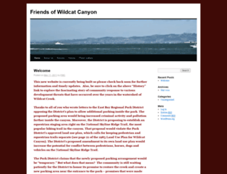 friendsofwildcatcanyon.org screenshot
