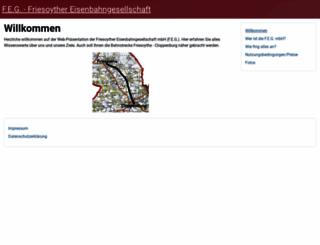 friesoyther-eisenbahngesellschaft.de screenshot