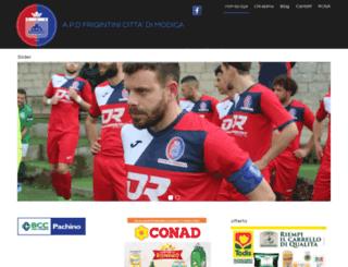 frigintinicalcio.it screenshot