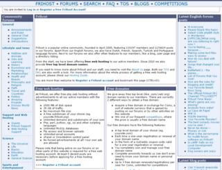 frihost.com screenshot