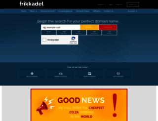 frikkadel.co.za screenshot