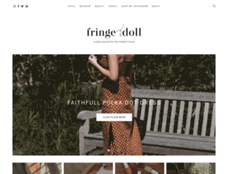 fringeanddoll.com screenshot