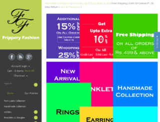 fripperyfashion.myshopify.com screenshot