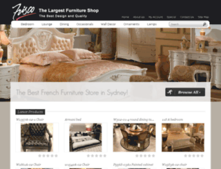 frisco-furniture.com.au screenshot