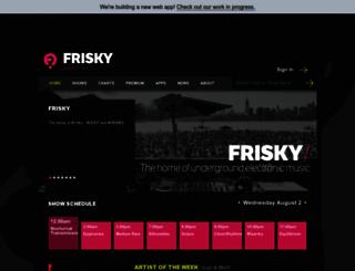 friskyradio.com screenshot
