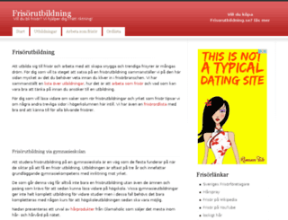 frisorutbildning.se screenshot