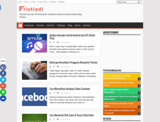 fristiadi.blogspot.com screenshot