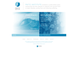 fritzinstitute.org screenshot