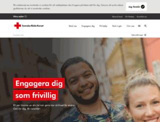 frivillig.redcross.se screenshot