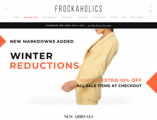 frockaholics.com.au screenshot