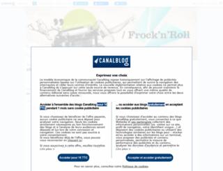 frocknroll.canalblog.com screenshot
