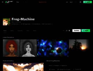 frog-machine.deviantart.com screenshot