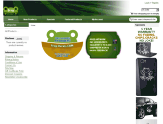 frogdecals.com screenshot