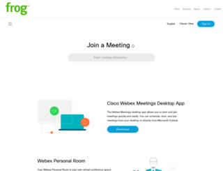 frogdesign.webex.com screenshot