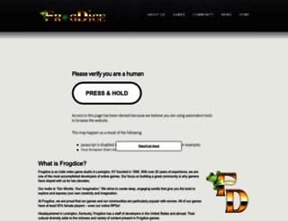 frogdice.com screenshot