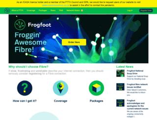 frogfoot.com screenshot