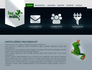 frogmedia.hu screenshot