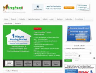 frogpond.com screenshot