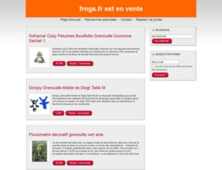 frogs.fr screenshot